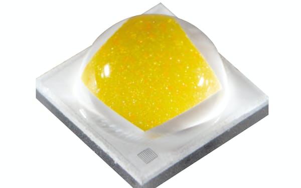 日亜化学が開発したオレンジ色の照明用LEDチップ