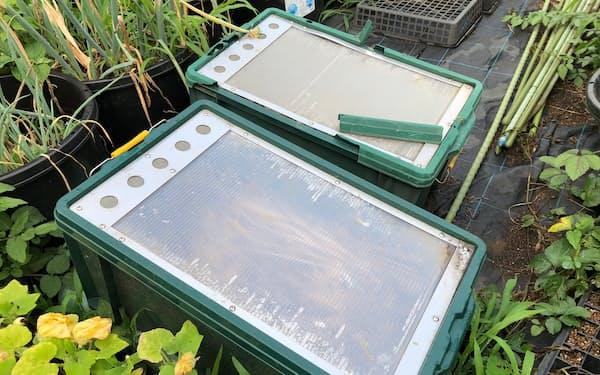 家庭の生ごみを入れるケース。堆肥の原料になる