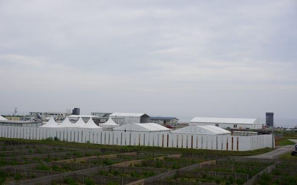 五輪に向けた整備が進むサーフィン競技会場(千葉県一宮町)