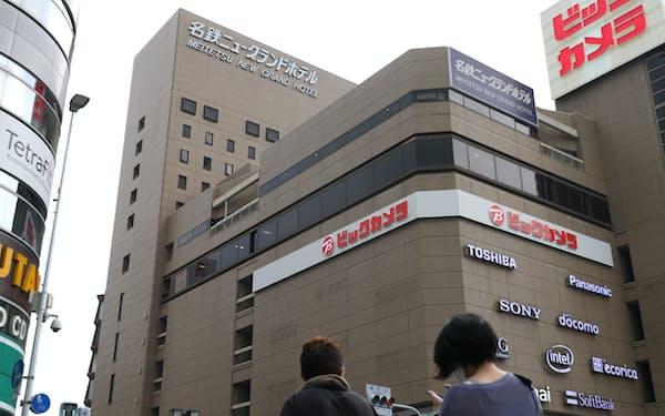 22年2月末の営業終了が発表された名鉄ニューグランドホテル(9日、名古屋市中村区)