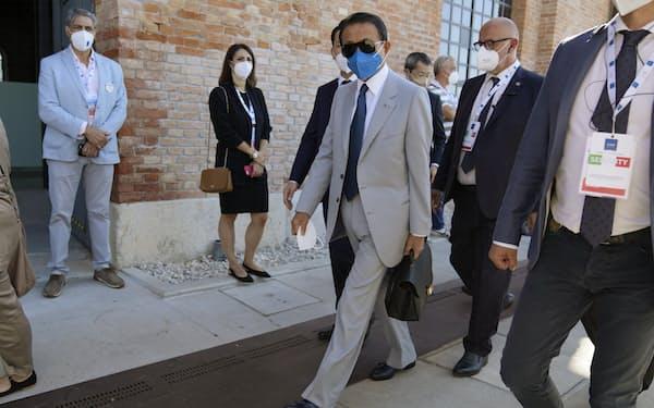 G20会議には日本から麻生太郎財務相らが出席する(ベネチア、9日)=AP