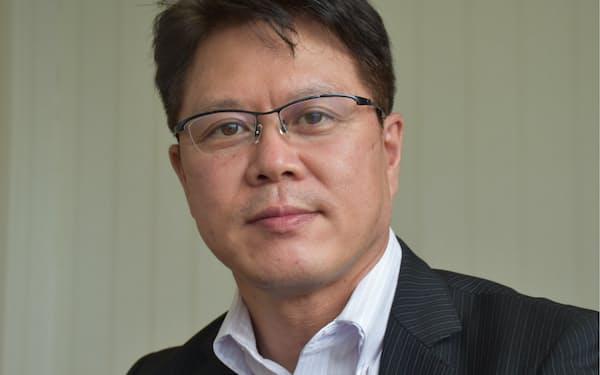 こころネットの菅野孝太郎社長は10月以降の緩やかな業績回復を見込む(福島市の本社)