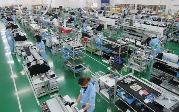 工場の集約などにより2023年12月期までに20億円の固定費を削減する(増床するタイ工場)