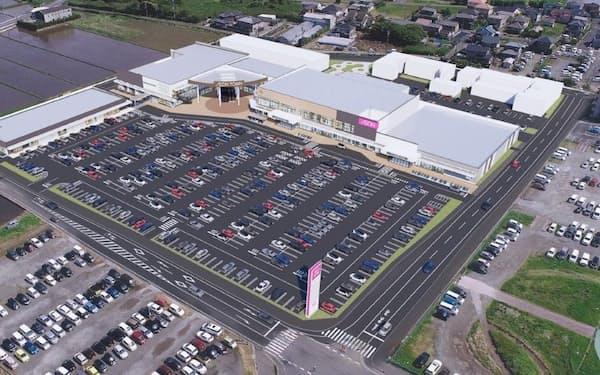旭中央病院に隣接して建設されるイオンタウン旭の完成イメージ