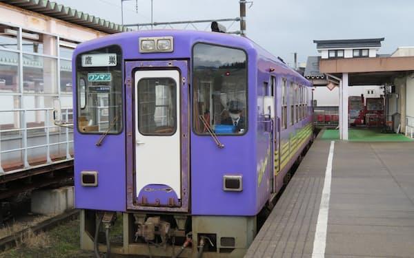 秋田内陸線は8月に初の夜行列車を運行する(秋田県仙北市)