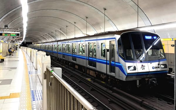 横浜市営地下鉄は新型コロナの影響で乗客が減少した(横浜市)