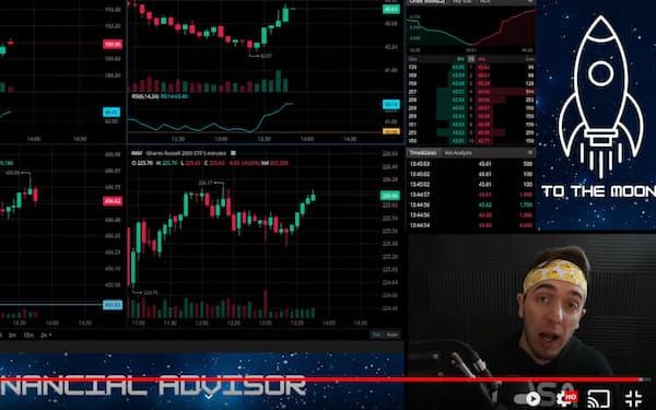 AMCやゲームストップ株の動向を解説する個人投資家のマット・コーズ氏(ユーチューブ動画)