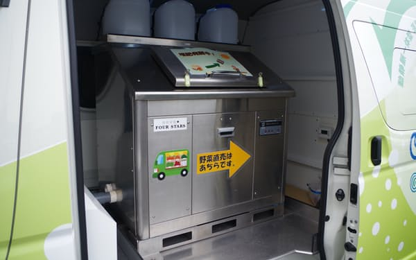 1回で40~50キログラムの生ごみを処理できる装置を搭載する