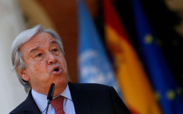 国連のグテレス事務総長=ロイター