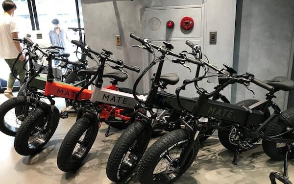 デンマーク発の電動自転車「MATE.X」は大きなタイヤが特徴(東京・恵比寿のMATE. BIKE TOKYO)