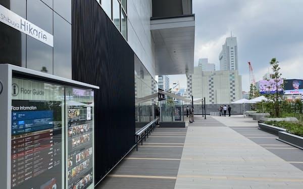 東京メトロ銀座線の上を通り、将来は渋谷駅の東西を「渋谷ヒカリエ」から「渋谷マークシティ」までつなぐ