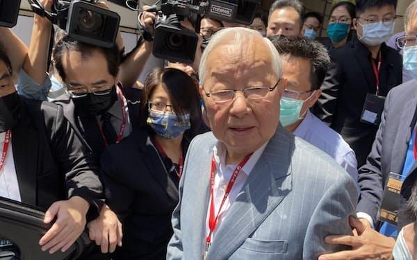 TSMC創業者の張忠謀(モリス・チャン)氏が今年も、台湾のAPEC代表に指名された(台北市、4月)