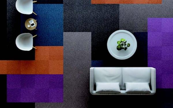 住江織物はリサイクルした素材を使ったカーペットなどの販売を伸ばす目標を掲げる
