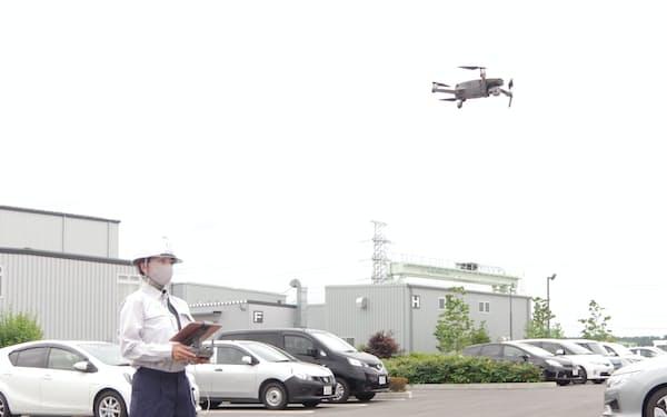 日本国土開発はドローンで空撮した画像を、造成地の土砂災害軽減に活用する