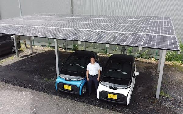 たじみ電力はEVと太陽光パネルをセットで販売する