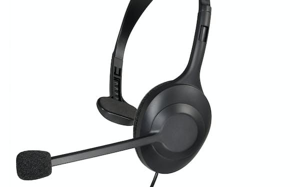 片耳型のヘッドセットで在宅勤務などに使いやすい