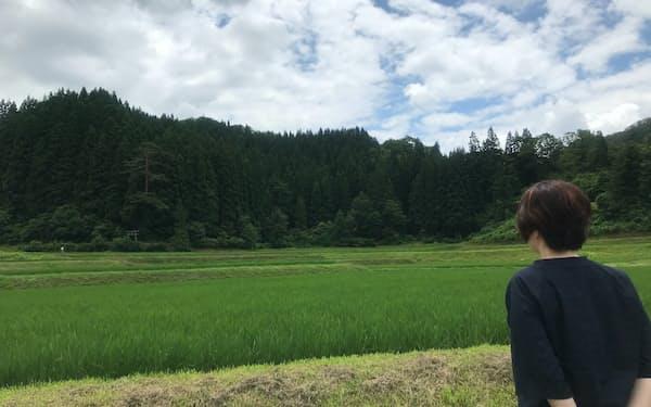 「鳥と虫の声が響いて心地いい」と話す下タ村真由美さん