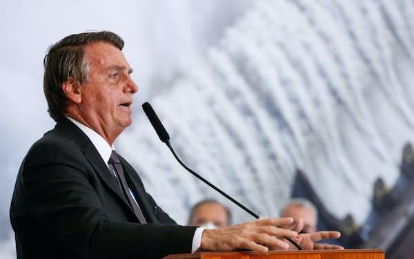 ブラジルのボルソナロ大統領(13日、ブラジリア)=ブラジル大統領府提供