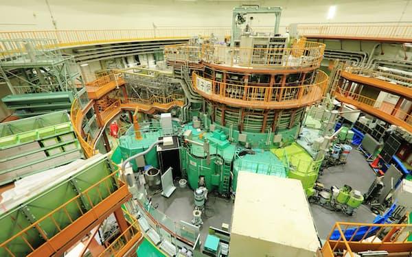 原子炉建屋には、出力20メガワットの原子炉を中心に、実験設備が設置されている