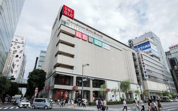 前期は「UNIQLO TOKYO」の開業など話題性も多かった(東京・中央)
