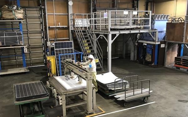 新菱は北九州市にある現在のリサイクル工場(写真)の近くに新工場を設ける