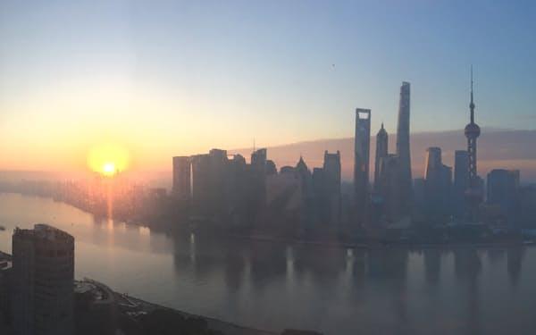 上海市浦東新区は中国の金融の中心となっている