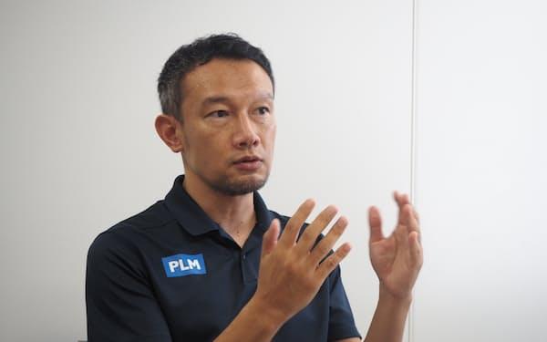 「パ・リーグに興味があるファンの人口を2025年までに2000万人にしたい」と語るPLMの根岸社長
