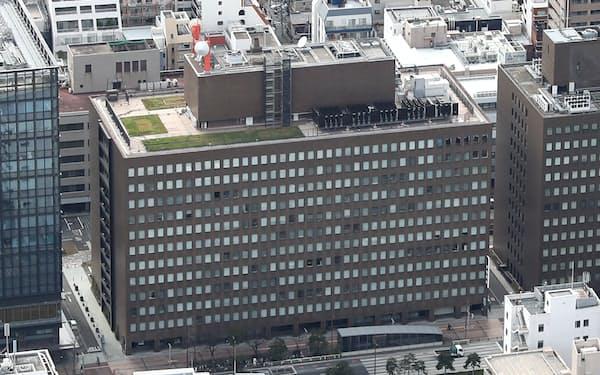 九州電力など電力大手がカルテルの疑いで立ち入り検査を受けた(九州電力本店=福岡市中央区)