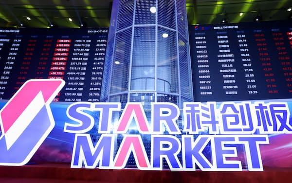 2019年7月の誕生以来、科創板では中国市場でも際立って強気な相場観が形成されている=ロイター