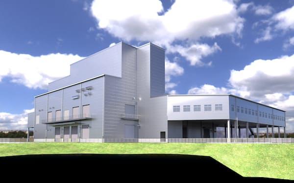 食協の新精米工場の完成イメージ