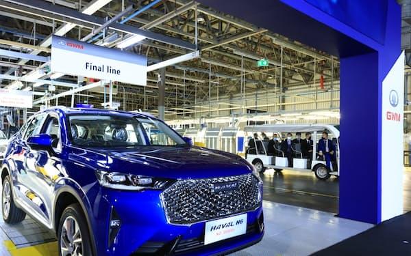 長城汽車は米GMから取得した工場でEV生産を計画する(6月9日、タイ・ラヨーン県)