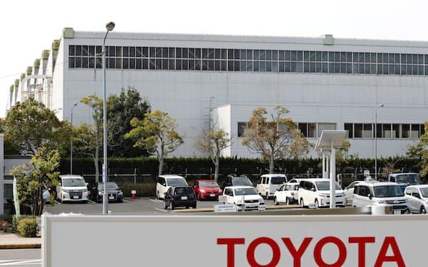 トヨタ自動車は半導体不足で高岡工場の生産を8月に一部停止する(愛知県豊田市)