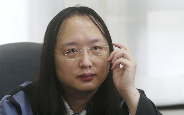 台湾はオードリー・タン(唐鳳)氏の東京五輪開会式への派遣を10日に発表したばかりだった=AP