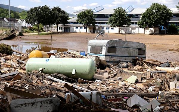ドイツでは豪雨による洪水が大きな被害をもたらした=ロイター
