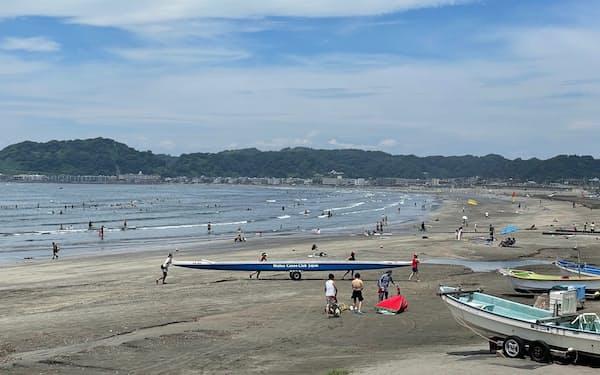 神奈川県鎌倉市では海水浴場の開設が2年連続で中止となった(7月10日)