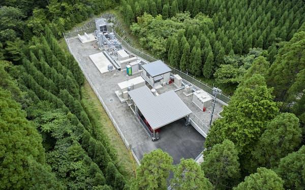 大分県九重町で大林組が運転を始めた地熱発電利用水素製造プラント