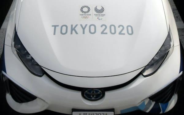 選手ら大会関係者の移動のための車両はほぼ当初計画通りに提供する(大会関係者用の車両)
