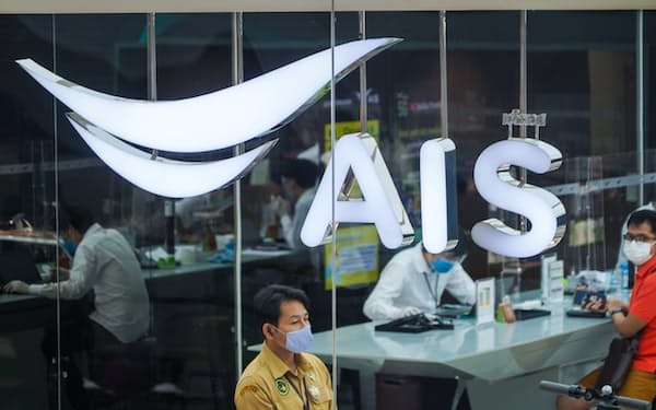 AISの店舗(20年、バンコク)=小高顕撮影