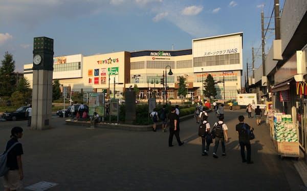 千葉県の商業地で伸び率が最大となった新鎌ケ谷駅前(千葉県鎌ケ谷市)