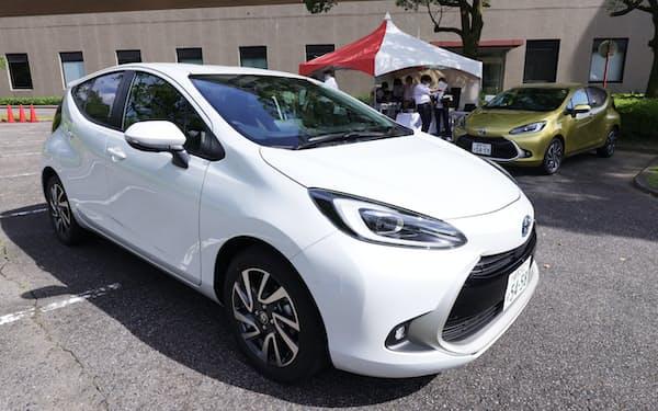 トヨタ自動車が発売した新型「アクア」(愛知県豊田市)