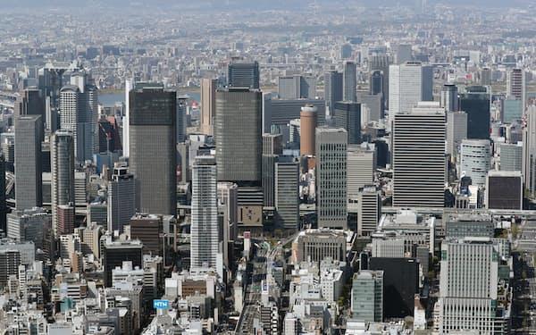 梅田エリアなど大阪市街地