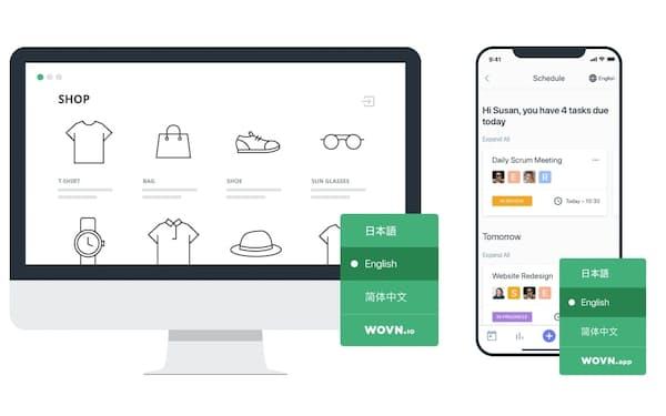 ウォーブンのソフトはウェブサイトを希望の言語に自動翻訳する