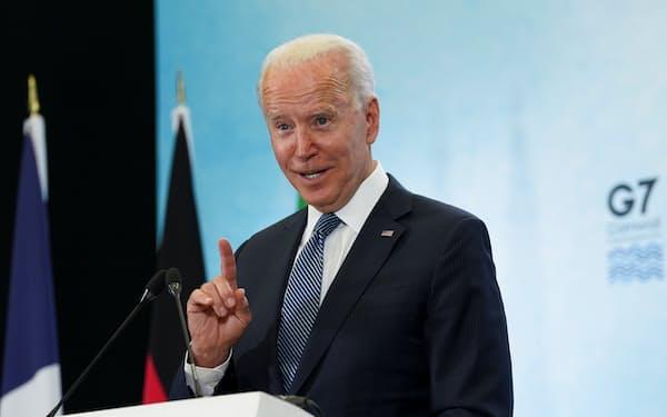 バイデン氏は欧州歴訪の際、各国首脳に協調を呼びかけていた(6月、英南西部コーンウォール)=ロイター