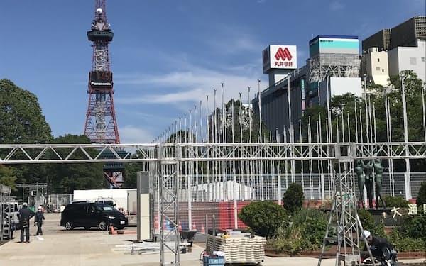 札幌市内の感染者数は国の「ステージ4」の水準に迫っている(市中心部の大通公園)