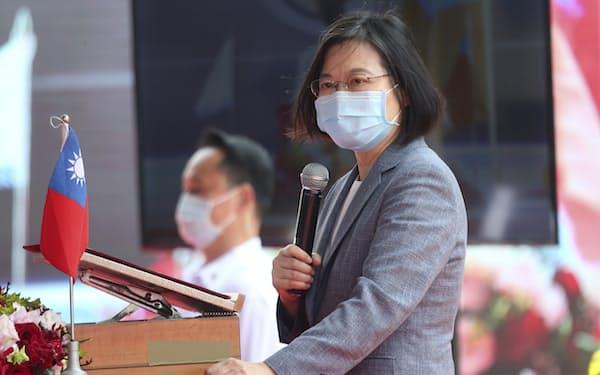 台湾・蔡政権下では、中国の圧力などで世界7カ国と外交関係を失い、苦戦が続いていた=AP
