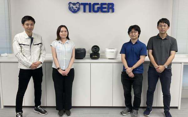 高級炊飯器を企画開発したメンバー。左から福田さん、浅野さん、辻本さんと久木野さん