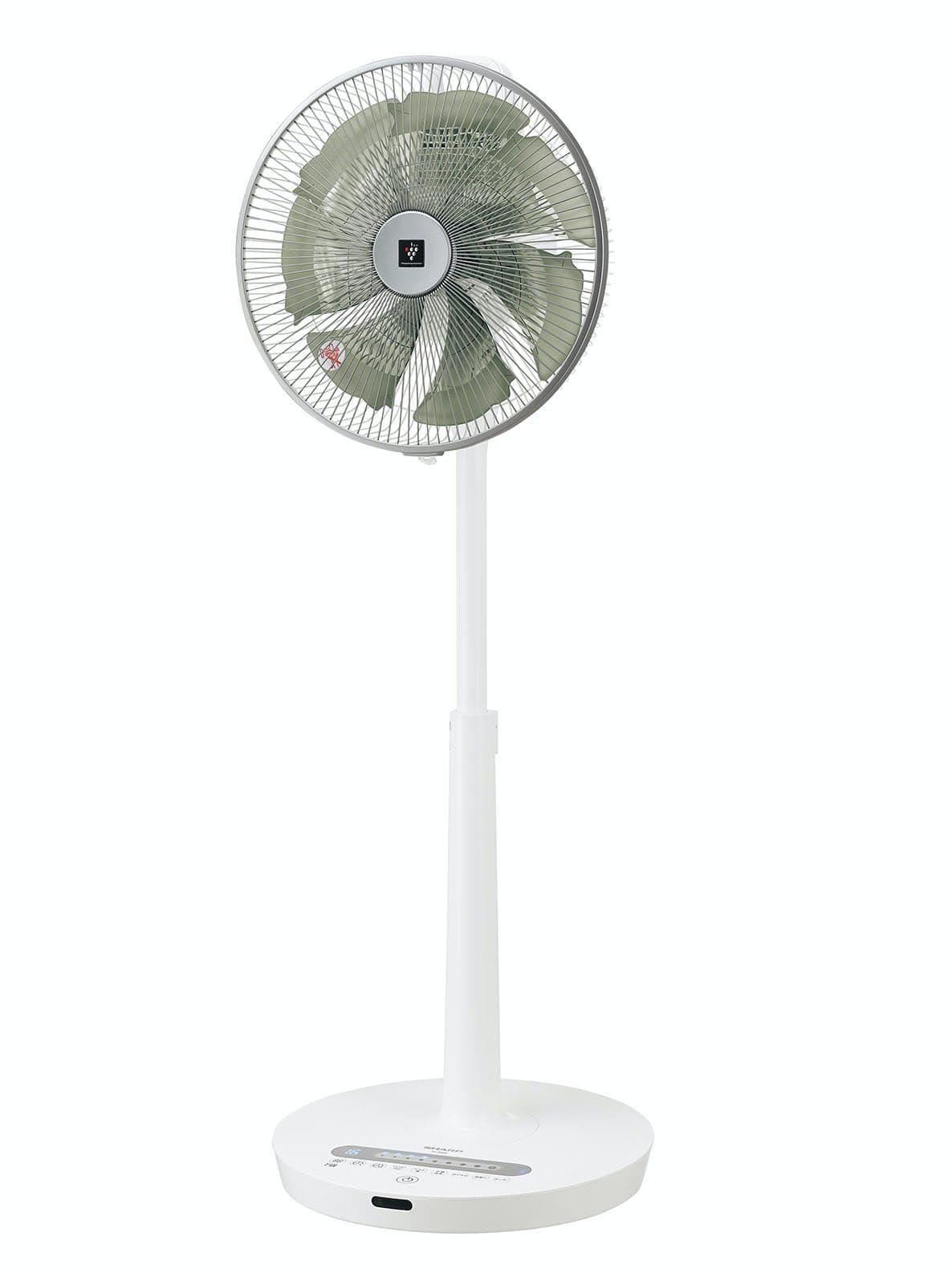 シャープが4月に発売した扇風機のファンはチョウの羽の形や動きをまねた