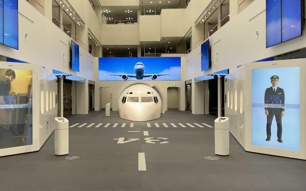 JALは羽田空港にある「スカイミュージアム」の展示エリアを全面改修した
