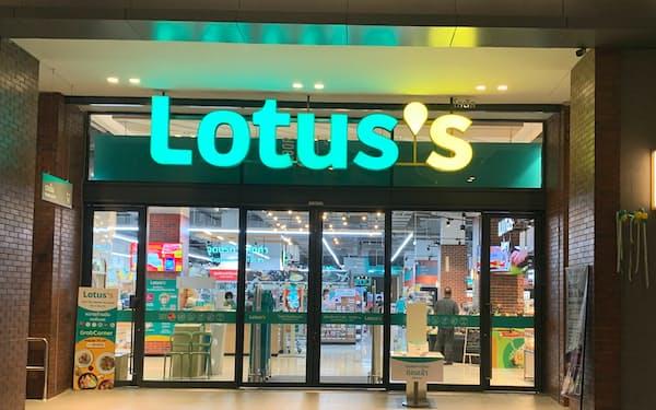 バンコク中心部に5月にお目見えした新生「ロータス」のモデル店舗