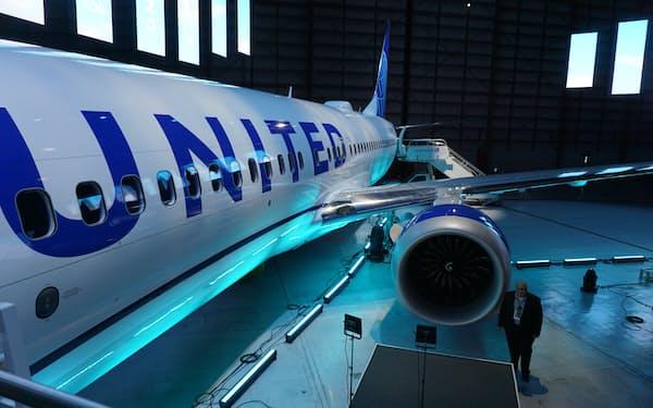 ユナイテッドは新型機への投資も加速する(米ニュージャージー州)